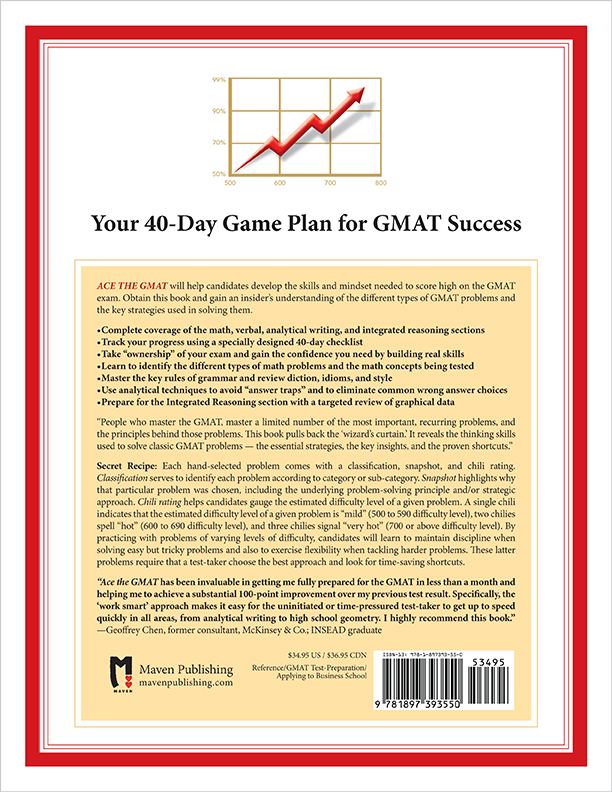Back Cover of Ace the GMAT by Brandon Royal