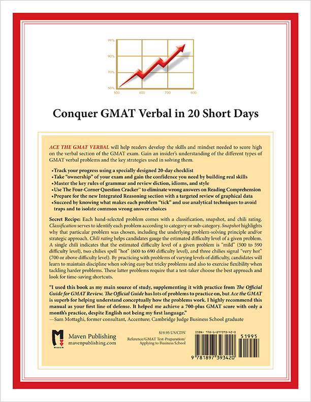Back Cover of Ace the GMAT Verbal by Brandon Royal