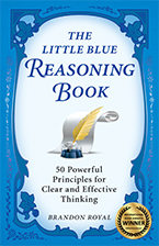 Front cover of The Little Blue Reasoning Book by Brandon Royal